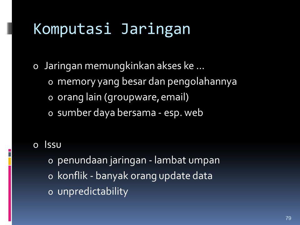 Komputasi Jaringan Jaringan memungkinkan akses ke ...