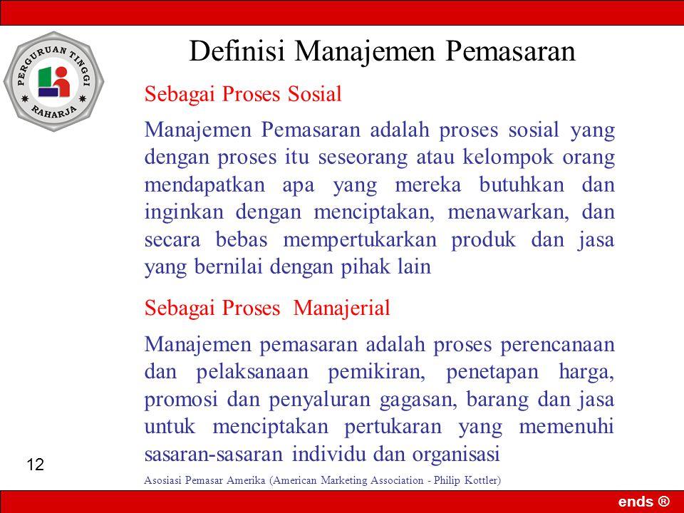 Definisi Manajemen Pemasaran