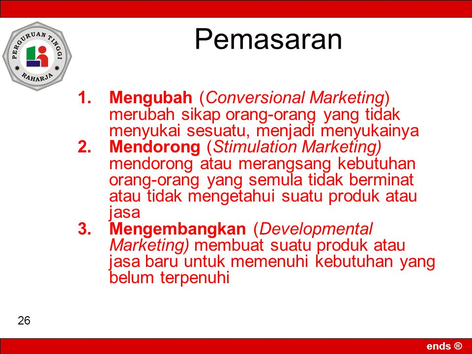 Pemasaran Mengubah (Conversional Marketing)