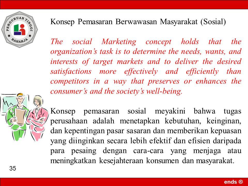 Konsep Pemasaran Berwawasan Masyarakat (Sosial)