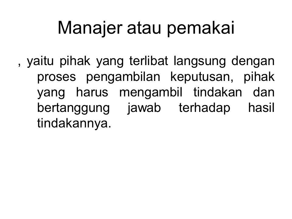 Manajer atau pemakai