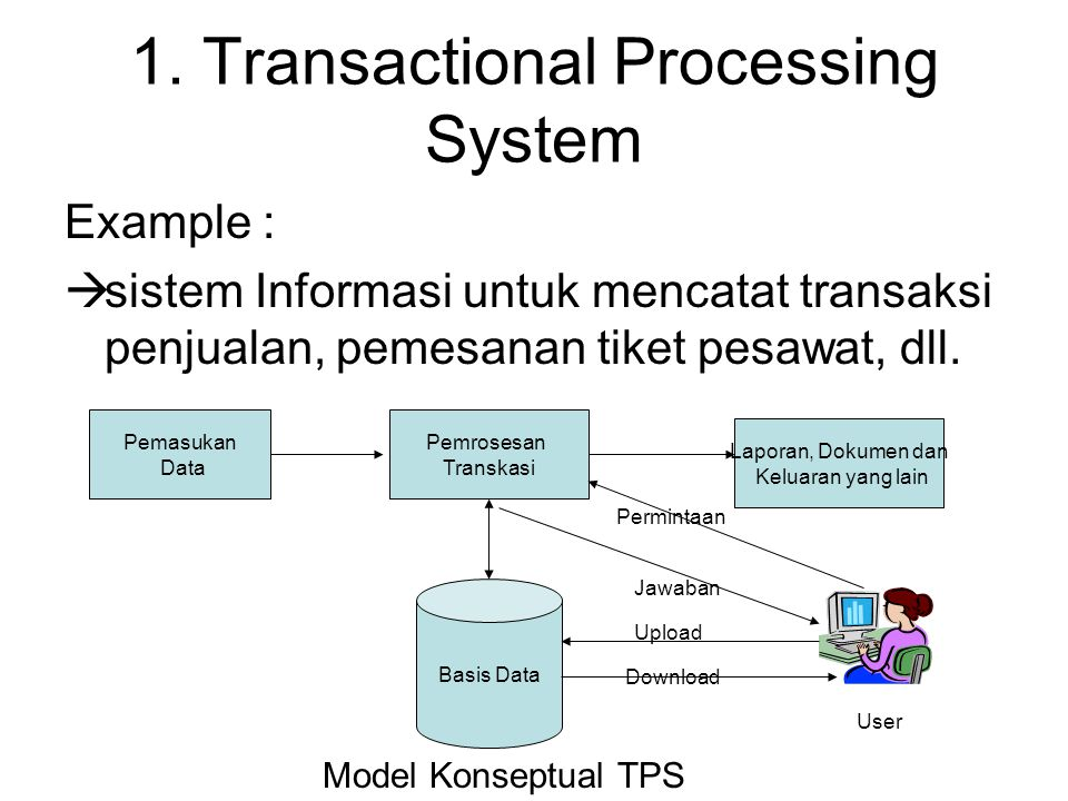 1. Transactional Processing System