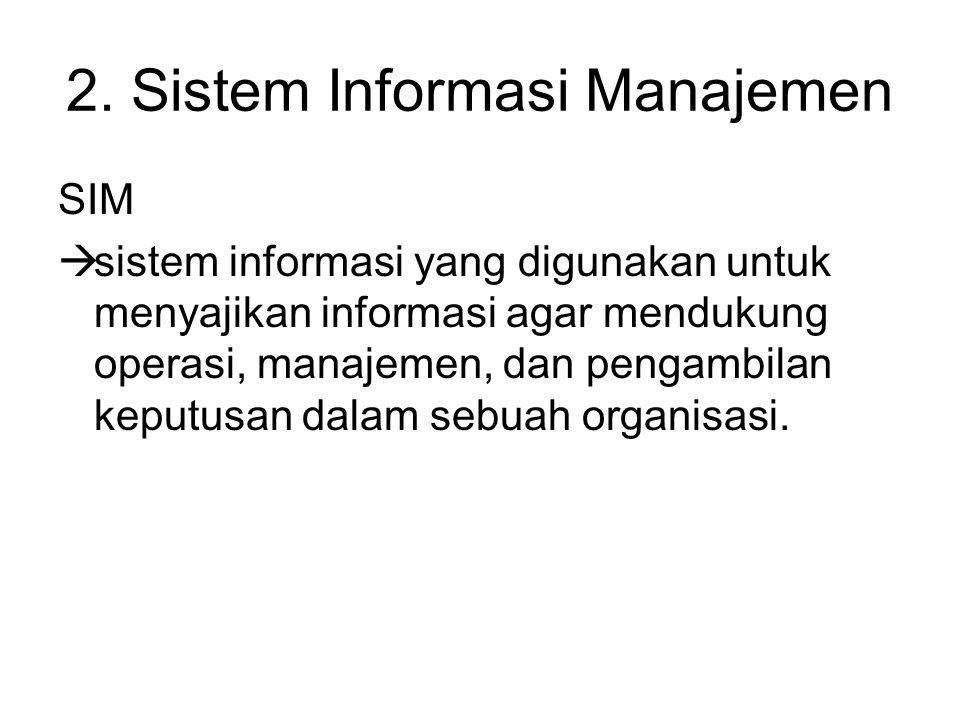 2. Sistem Informasi Manajemen