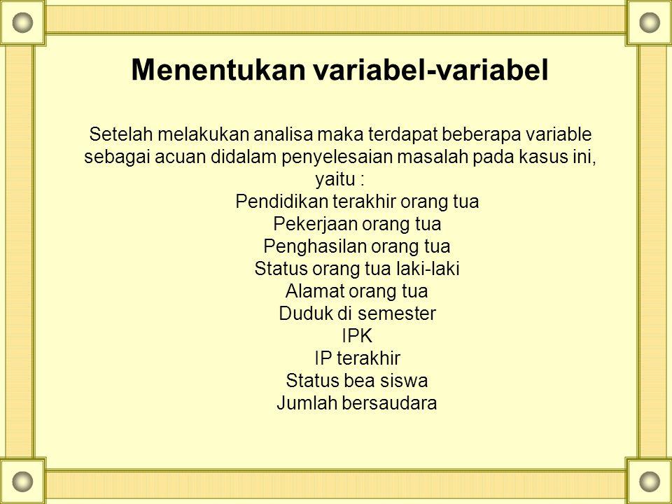 Menentukan variabel-variabel