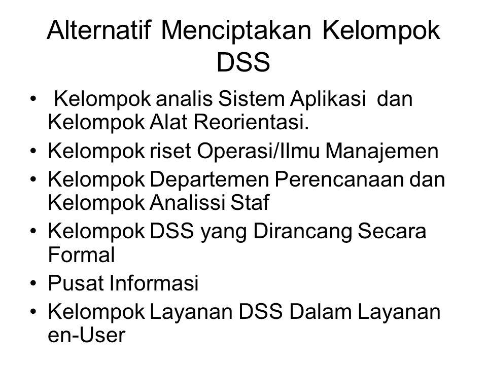 Alternatif Menciptakan Kelompok DSS