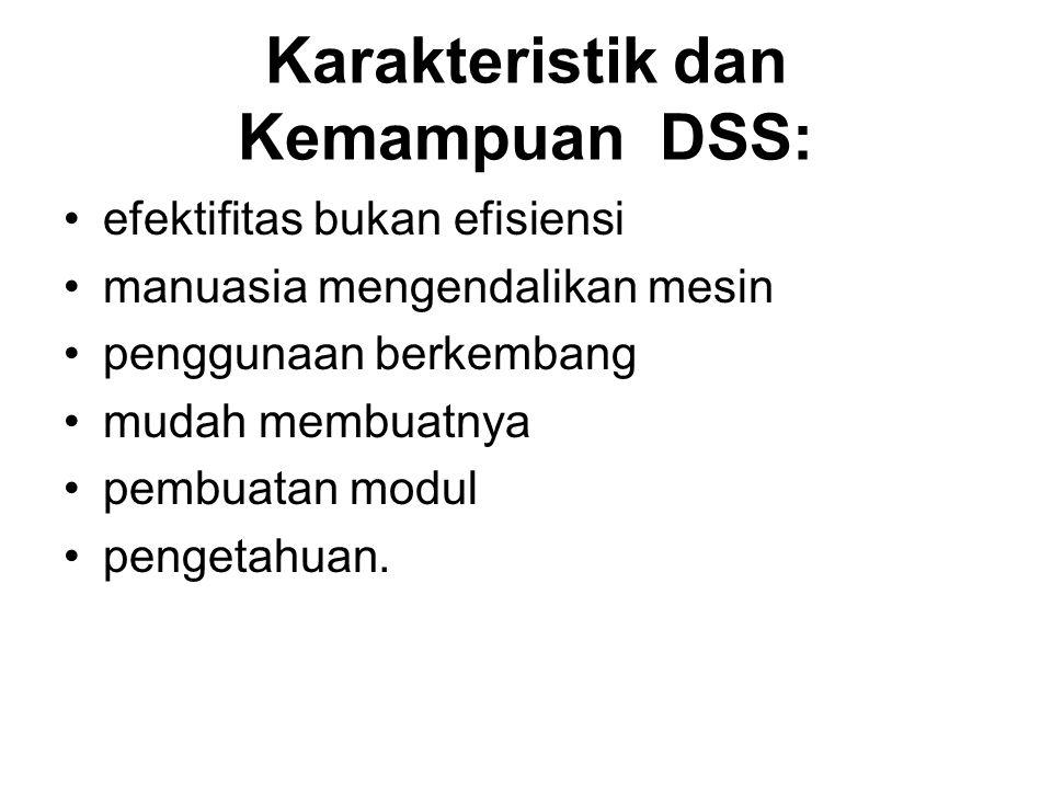 Karakteristik dan Kemampuan DSS: