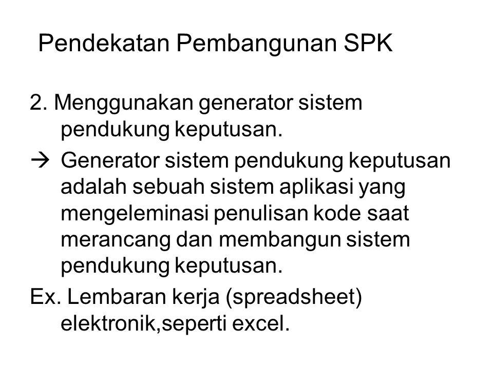 Pendekatan Pembangunan SPK