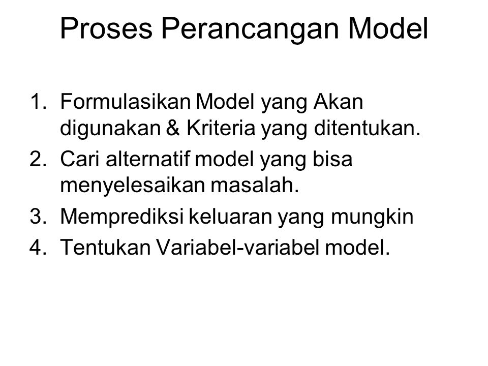 Proses Perancangan Model