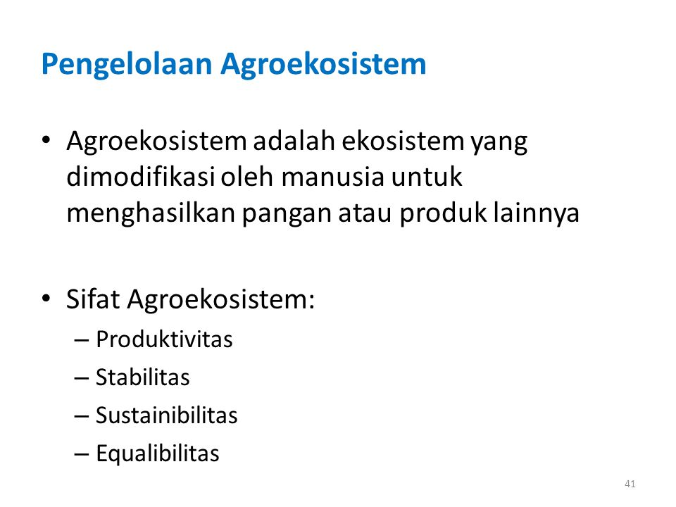 Pengelolaan Agroekosistem