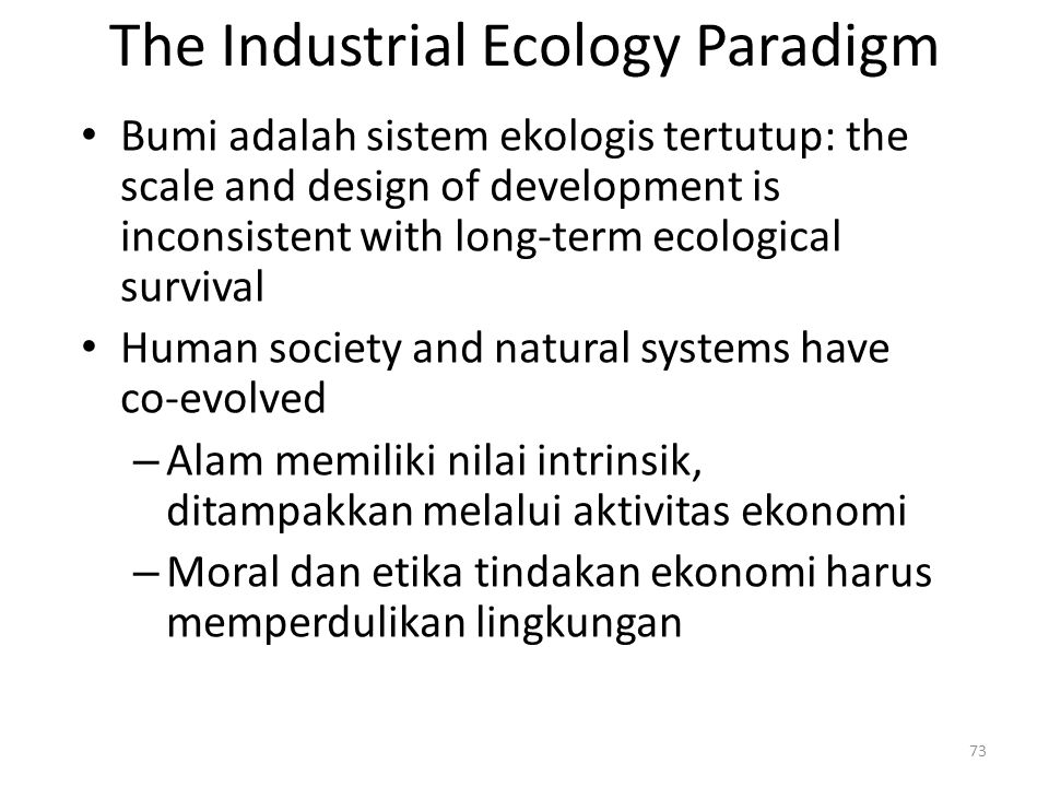 The Industrial Ecology Paradigm