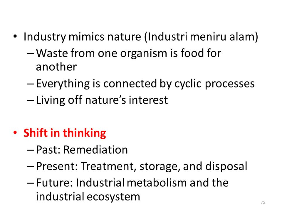 Industry mimics nature (Industri meniru alam)