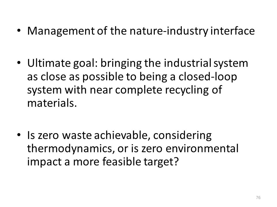 Management of the nature-industry interface
