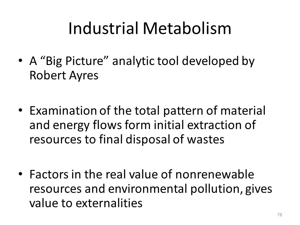 Industrial Metabolism