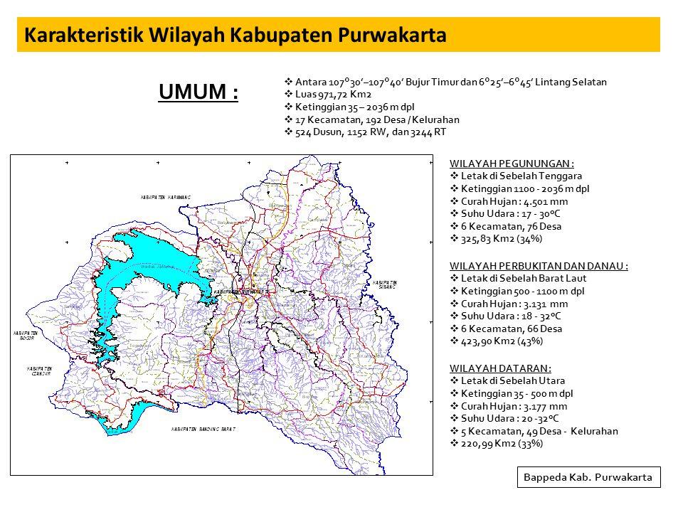 Karakteristik Wilayah Kabupaten Purwakarta