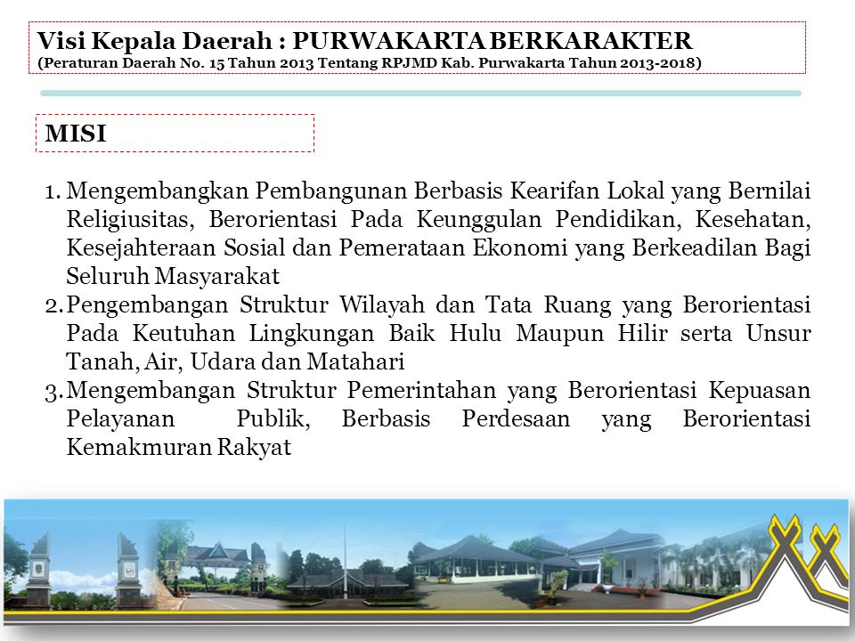 Visi Kepala Daerah : PURWAKARTA BERKARAKTER
