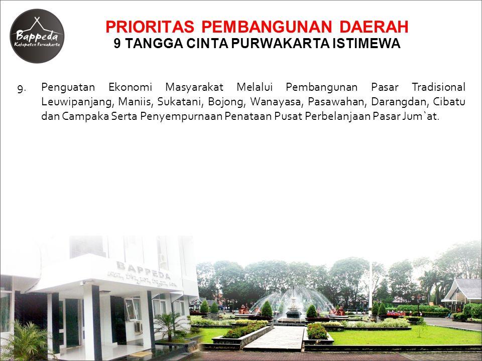 PRIORITAS PEMBANGUNAN DAERAH 9 TANGGA CINTA PURWAKARTA ISTIMEWA