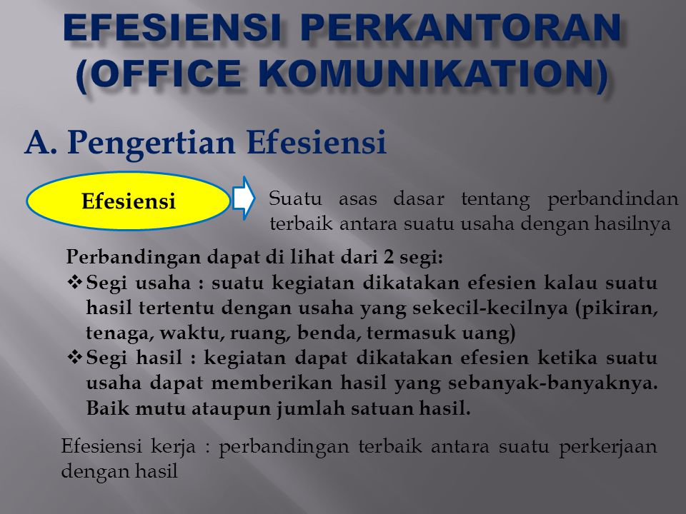 EFESIENSI PERKANTORAN (OFFICE KOMUNIKATION)