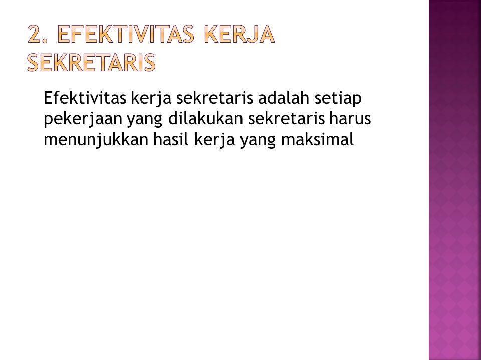 2. Efektivitas kerja sekretaris