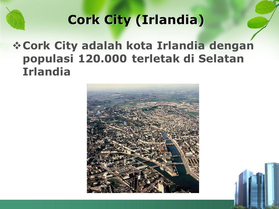Cork City (Irlandia) Cork City adalah kota Irlandia dengan populasi 120.000 terletak di Selatan Irlandia.