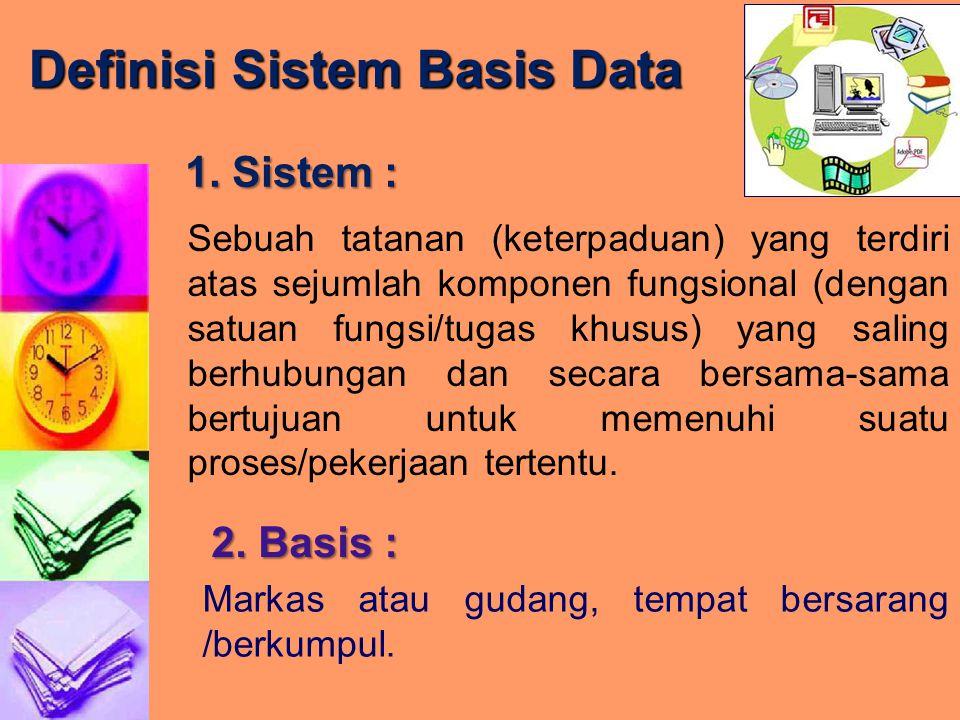 Definisi Sistem Basis Data