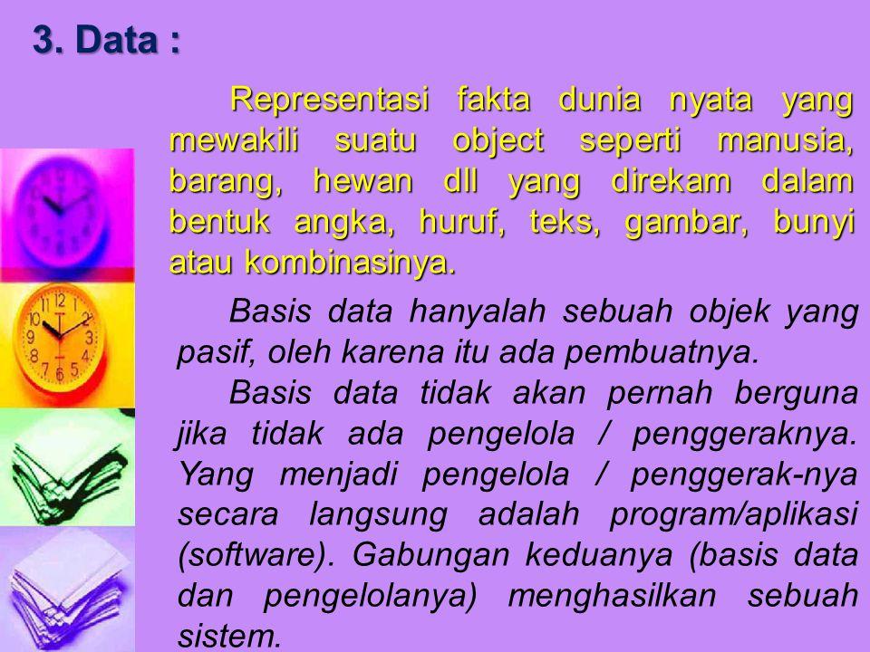 3. Data :