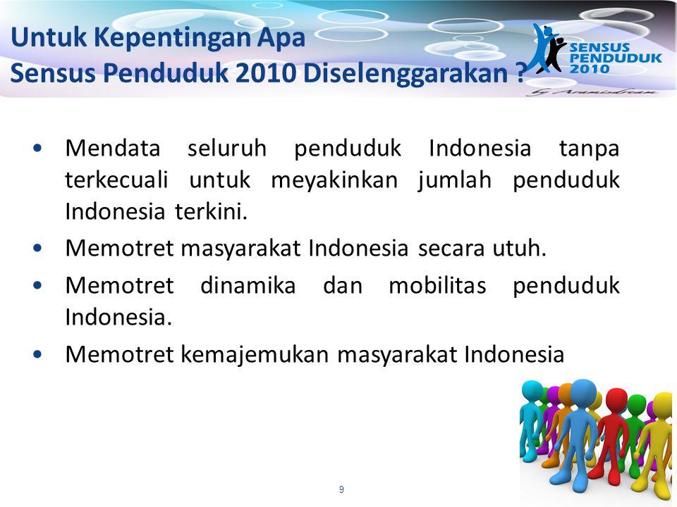 Sensus Penduduk 2010 Diselenggarakan