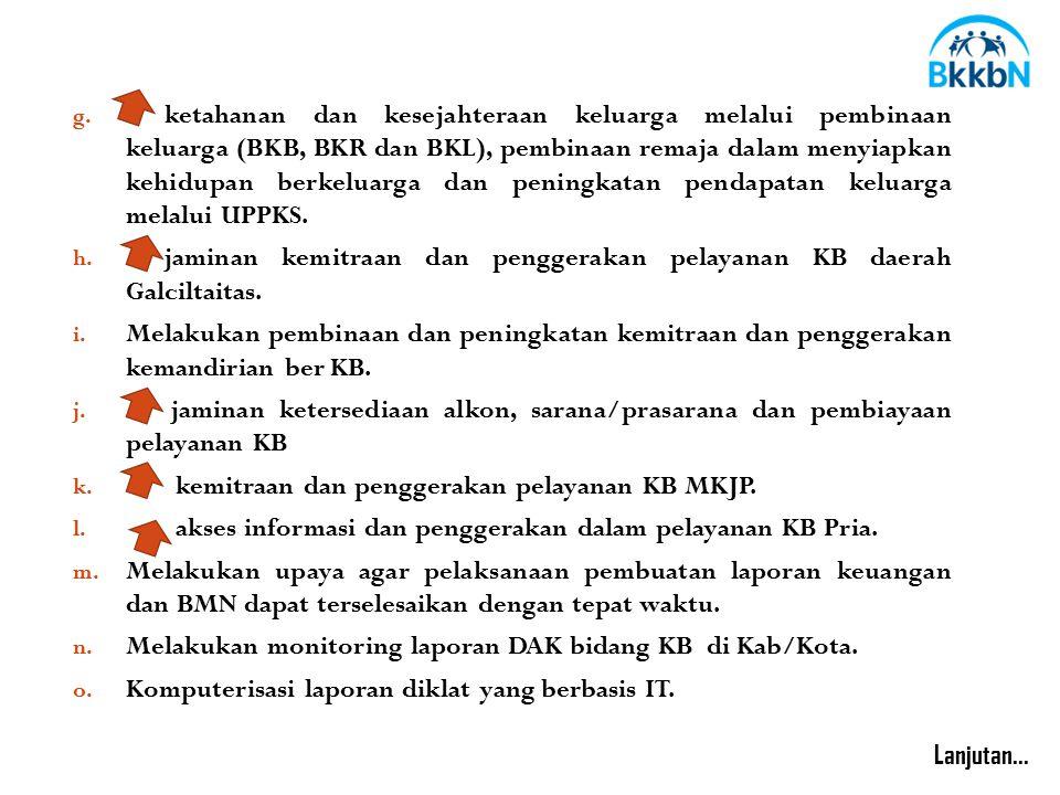 jaminan kemitraan dan penggerakan pelayanan KB daerah Galciltaitas.