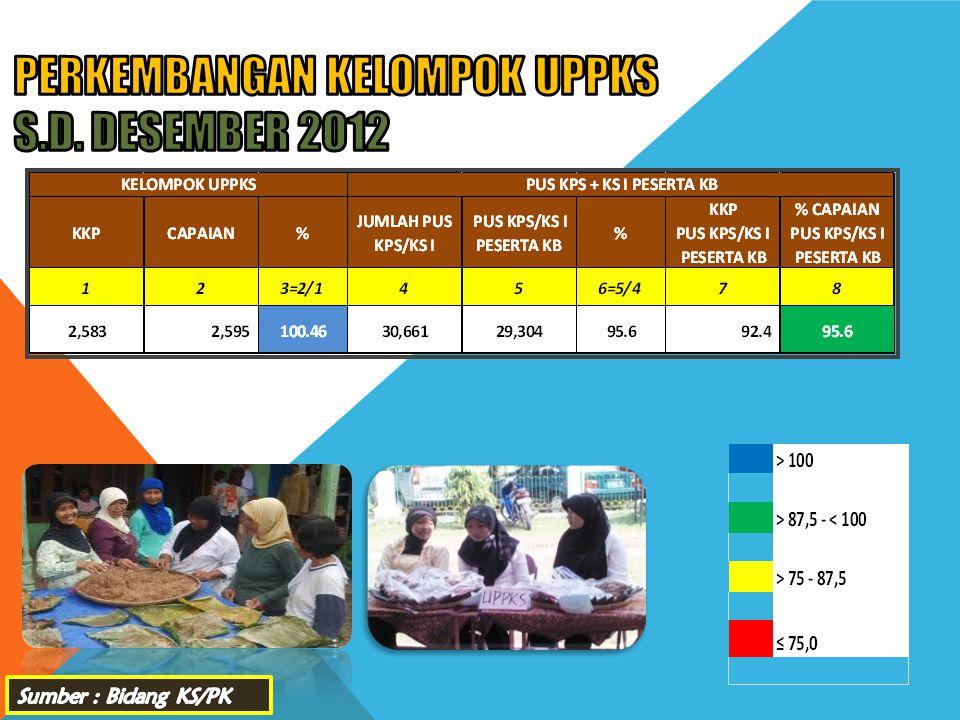 PERKEMBANGAN KELOMPOK UPPKS s.d. DESEMBER 2012