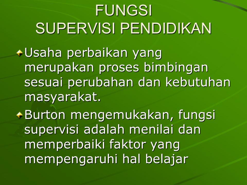 FUNGSI SUPERVISI PENDIDIKAN
