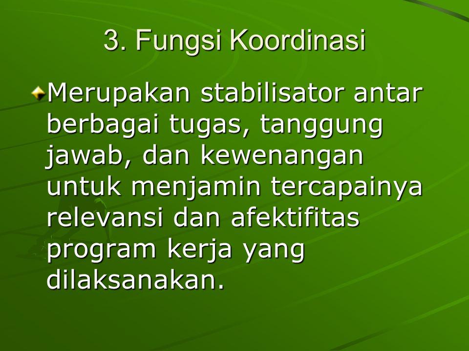 3. Fungsi Koordinasi