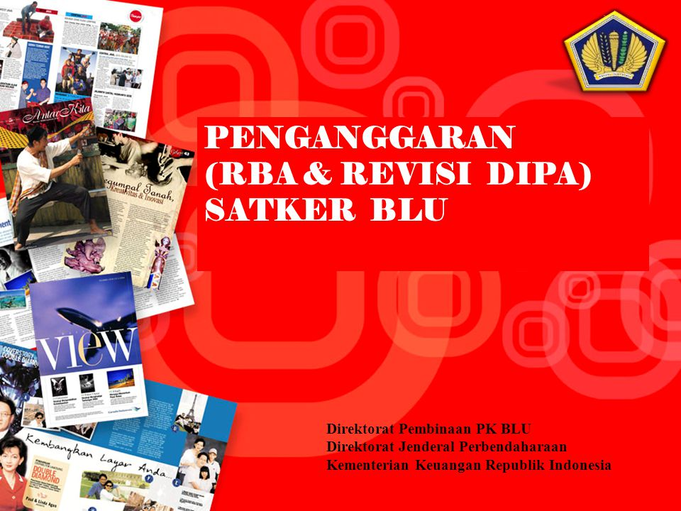 (RBA & REVISI DIPA) SATKER BLU