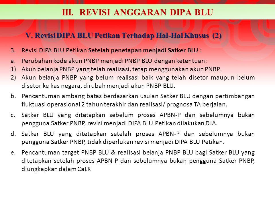V. Revisi DIPA BLU Petikan Terhadap Hal-Hal Khusus (2)