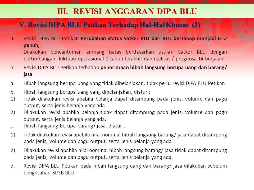 V. Revisi DIPA BLU Petikan Terhadap Hal-Hal Khusus (3)