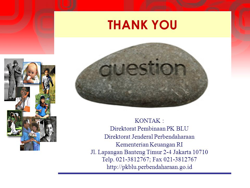 THANK YOU KONTAK : Direktorat Pembinaan PK BLU