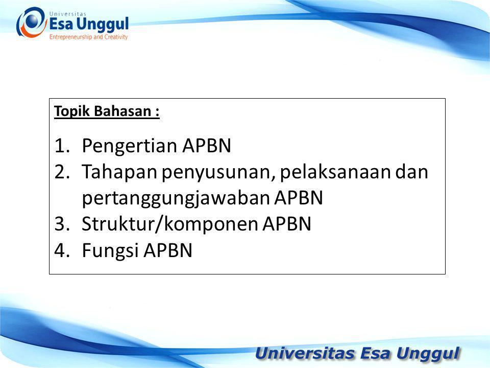 Tahapan penyusunan, pelaksanaan dan pertanggungjawaban APBN