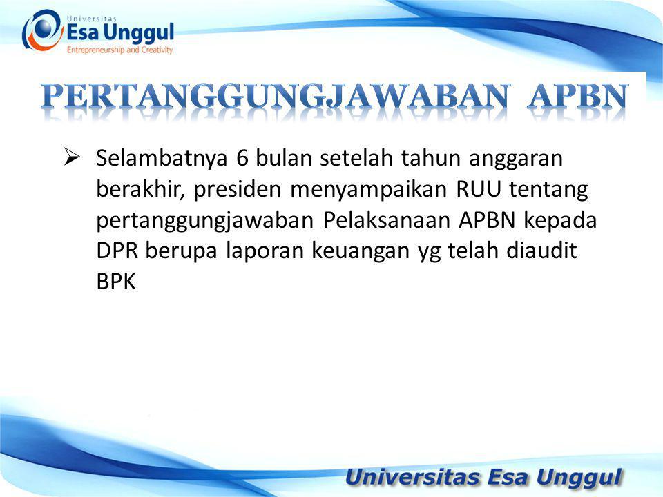 Pertanggungjawaban APBN
