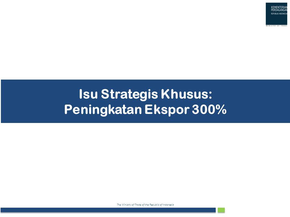 Isu Strategis Khusus: Peningkatan Ekspor 300%