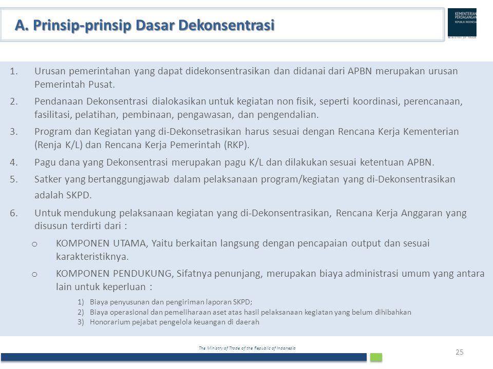 A. Prinsip-prinsip Dasar Dekonsentrasi