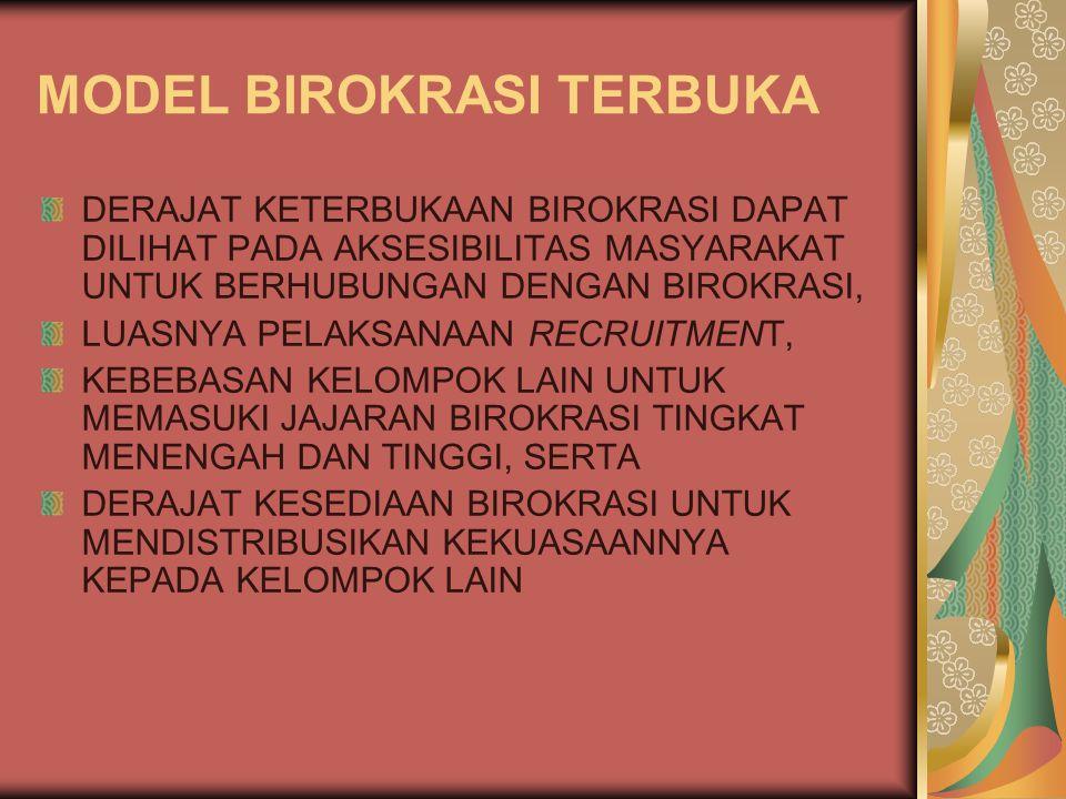 MODEL BIROKRASI TERBUKA