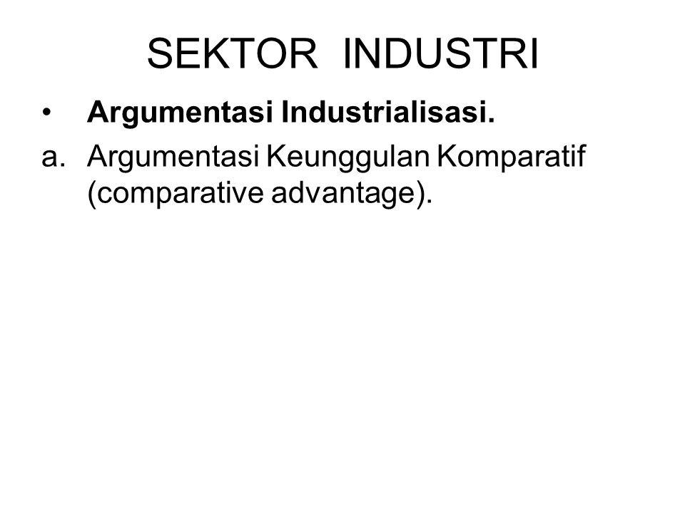 SEKTOR INDUSTRI Argumentasi Industrialisasi.
