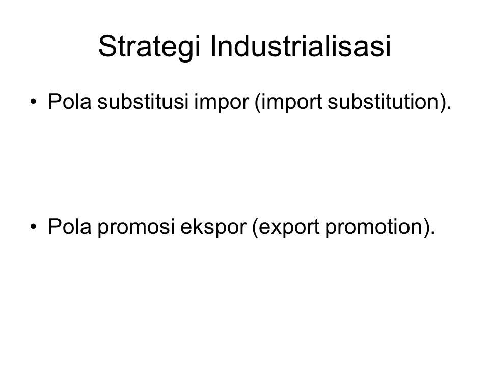 Strategi Industrialisasi