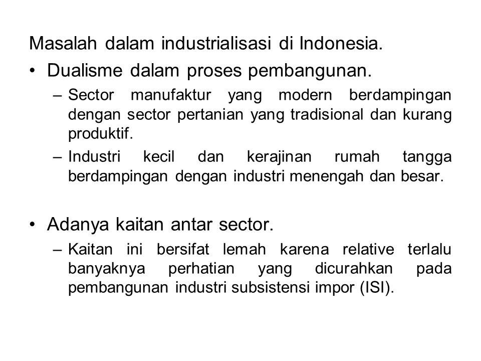 Masalah dalam industrialisasi di Indonesia.