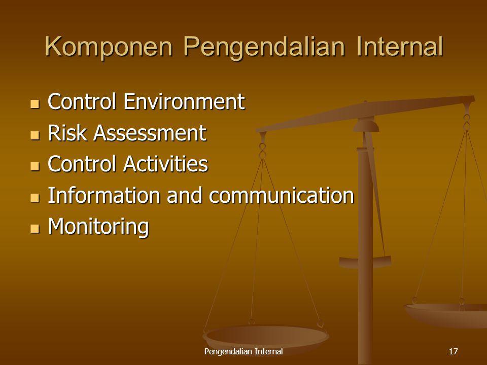 Komponen Pengendalian Internal