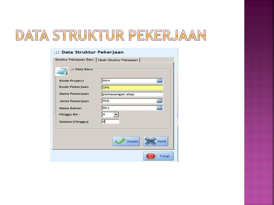 Data struktur pekerjaan