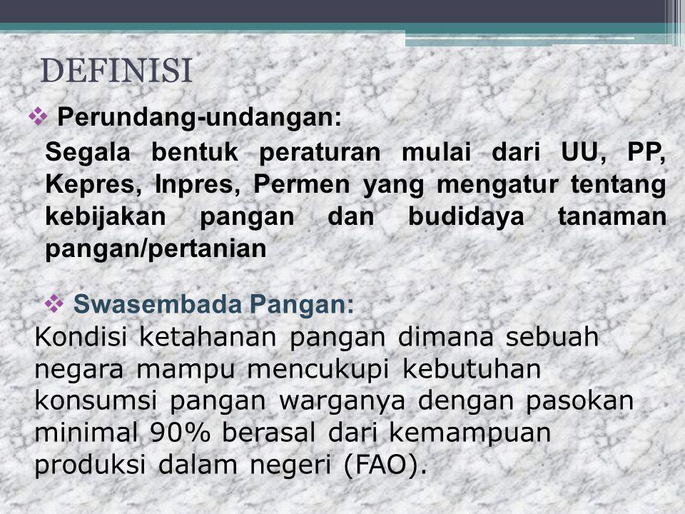 DEFINISI Perundang-undangan:
