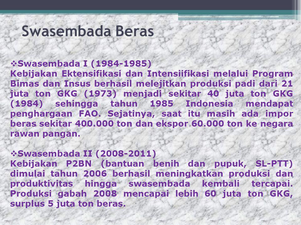 Swasembada Beras Swasembada I (1984-1985)