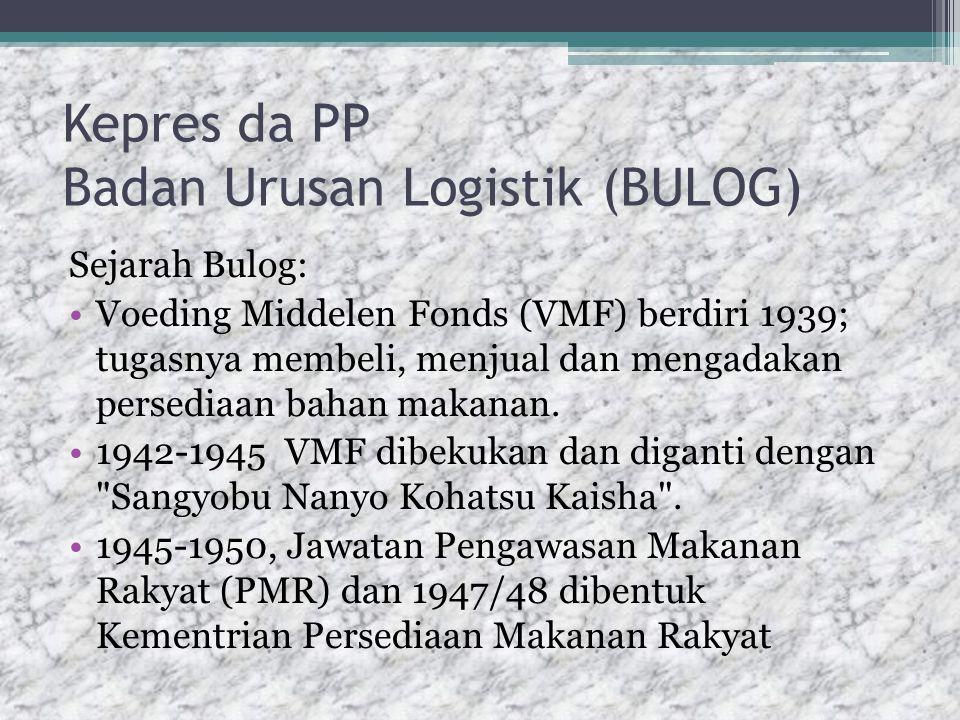 Kepres da PP Badan Urusan Logistik (BULOG)