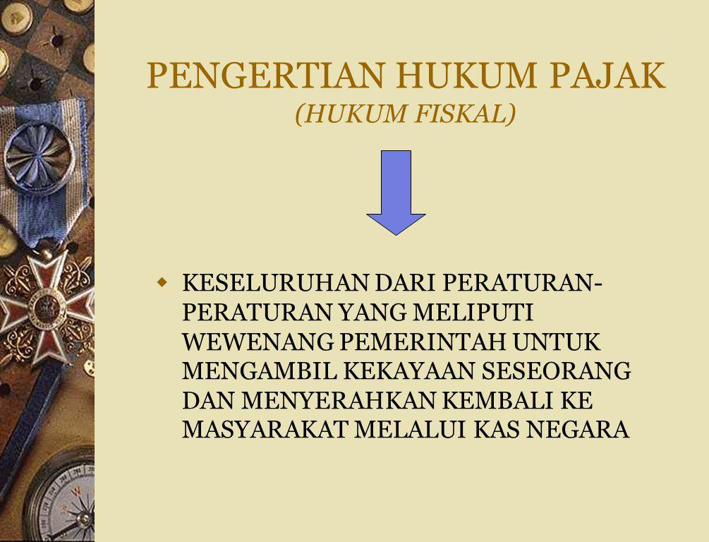 PENGERTIAN HUKUM PAJAK (HUKUM FISKAL)