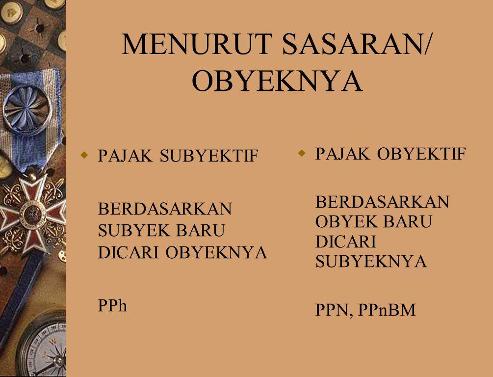 MENURUT SASARAN/ OBYEKNYA