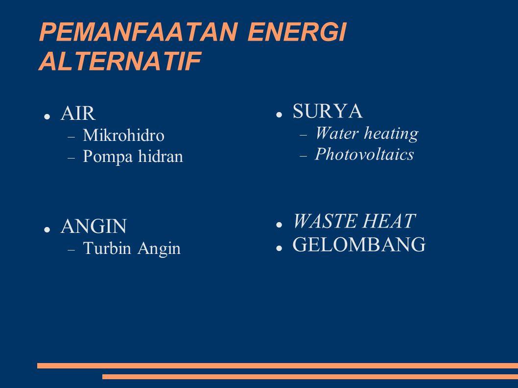 PEMANFAATAN ENERGI ALTERNATIF